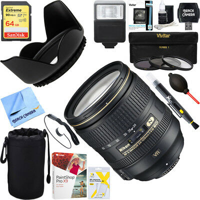 Nikon 24-120mm f/4G ED VR AF-S NIKKOR Compact Lens + 64GB Ultimate Kit