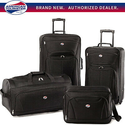 American Tourister Fieldbrook II 4 Piece Luggage Black Tote Upright 56444-1041
