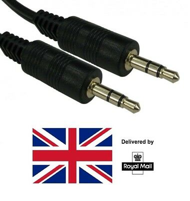 Aux Cable Audio Lead 3.5mm Jack to Jack Stereo Male for Car PC Phone 0.5m