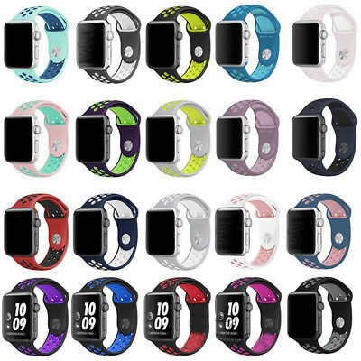 Apple Watch Band Soft Silicone Replacement Strap Sport Band iWatch Series 1 2 3