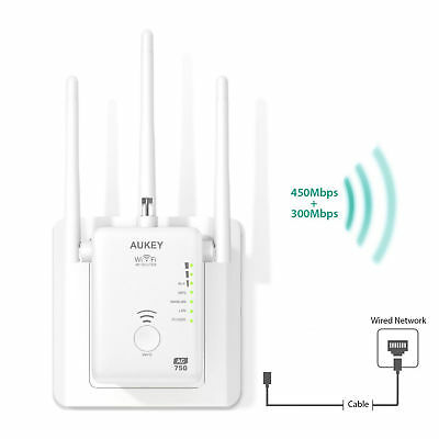 AUKEY R7 Wifi  Repeater Verstärker Dual Band AC750 5G / 2.4G AP / Router kombi