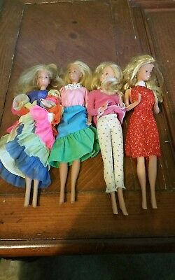 Vintage 1966 Barbie doll lot of for fully clothed cool clothes