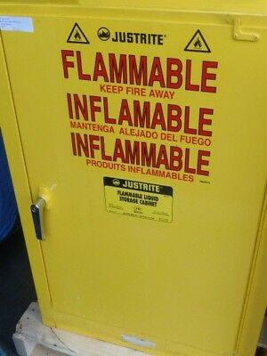 JustRite 25712 YELLOW FLAMMABLES SAFETY CABINET