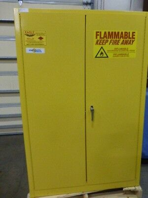 YELLOW FLAMMABLES SAFETY CABINET, Eagle Mfg. Co.