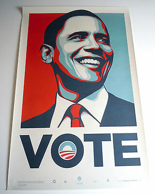 Obama Vote Numbered Screen Print : Obey : Shepard Fairey : Anti-Trump Poster