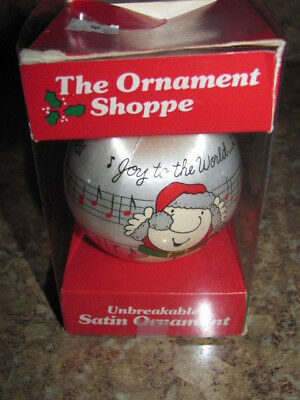 The Ornament Shoppe 1981 Ziggy unbreakable satin Christmas Ornament in box