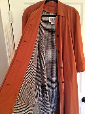 Vtg Bill Blass Signature Neiman Marcus Trench Coat -Rust Color-Made in USA