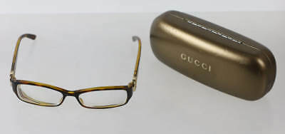 "Gucci Brown Tortoise Rectangular ""GG 3553"" Presscription Spectacles"