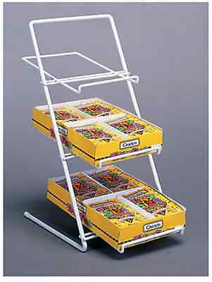 Counter Candy, Gum & Snack Display Rack - 3 Tier Slant Back (White)