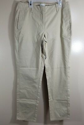 J Jill Womens Pants Size 6 Beige Straight Live In Chino Khakis Career Stretch