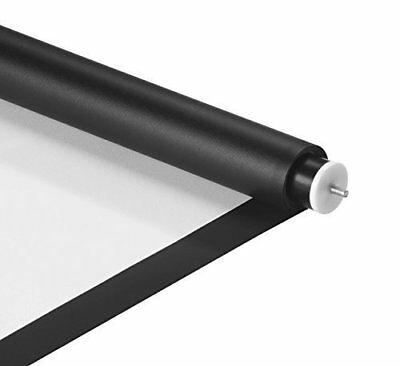 """VonHaus DIY Projector Screen 66"""" x 110"""" - White Projection Screen with Black"""