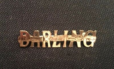 Antique Victorian Gold Plated Pin - Spells the Word Darling - Excellent!