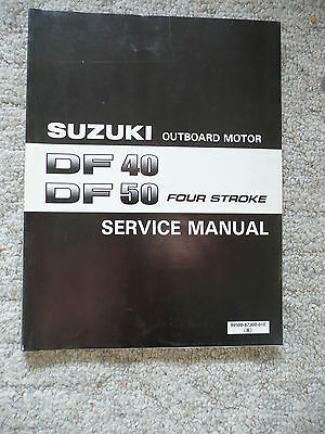 1999 Suzuki DF40 DF50 DF Four Stroke Outboard Motor Service Repair Manual OEM