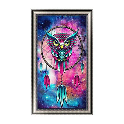 FX- DIY Diamond Embroidery Painting Owl Decor Home Office Room Wall Decor Reliab