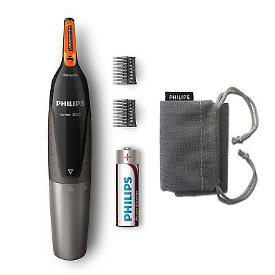 Philips Series 3000 Nose, Ear, and Eyebrow Trimmer/Shaver - Angled Precision - N