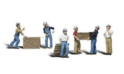 New Woodland N Scale Dock Workers Train Figures A2123