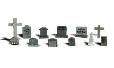 New Woodland N Scale Tombstones Train Figures A2164