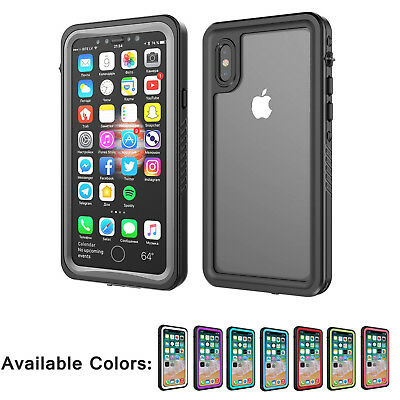 For Apple iphone XS Waterproof Case Cover With built-in screen protector Clear