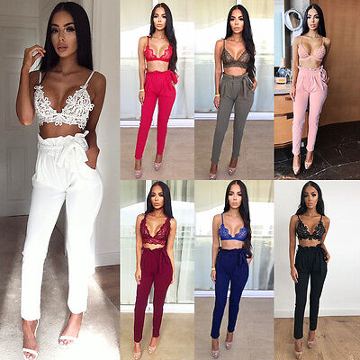 USA Fashion Woman's High Waist Pants Jogger Casual Dance Loose Trousers pants