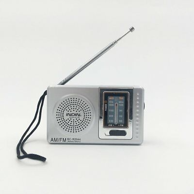 Battery Powered Portable Am/Fm Radio For Winter Home Power Outage Rain Survival