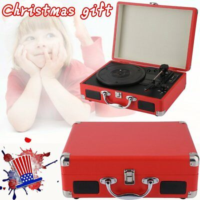 Christmas Musical Child Gift Portable Suitcase Record Player Bluetooth Wireless