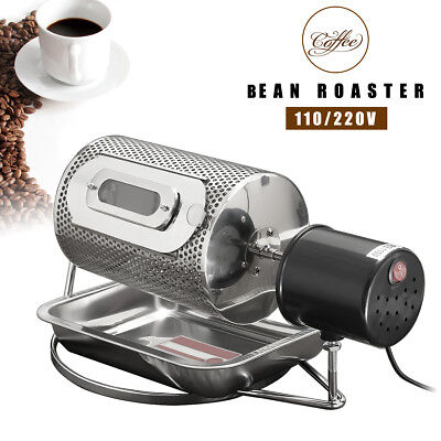 220V/110V Electric Coffee Bean Roaster Home Machine Nuts Baking Roasting + Tray