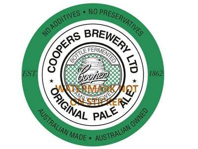 Coopers Beer Pale Ale  Decal Sticker Label Large 240 Mm Wide