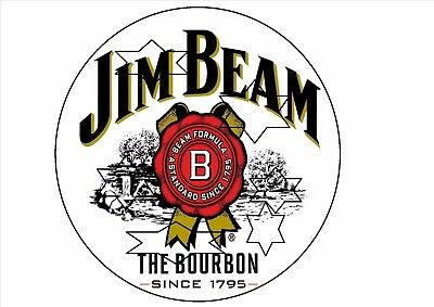 Jim Beam  Decal Sticker Label 9 Inch Dia 230 Mm Hot Rod