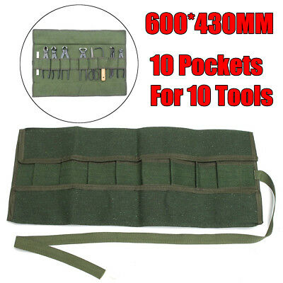 600*430MM Japanese Bonsai Tools Storage Package Roll Bag Canvas Set Case Green