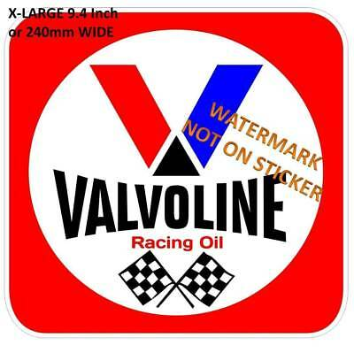 New Vintage Valvoline Oil Decal Sticker Large 9.0 Inch  Dia Usa