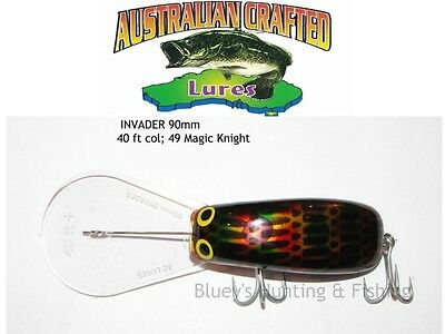 Australian Crafted Lures- cod 90mm invader Magic knight col;49  40ft a.c.lures