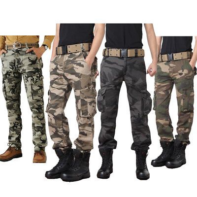 USA Military Men s Cotton Cargo Pants Combat Camouflage Camo Army Style Trousers .