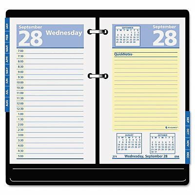 "AT-A-GLANCE E517-50 QuickNotes Recycled Desk Calendar Refill, 3 1/2"" x 6"", 2015"