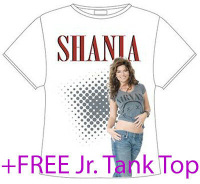 "Shania Twain White ""Nirvana Tee"" T-shirt Size Adult Small NEW + now w/FREE Tank"
