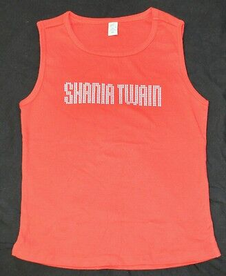 "Shania Twain Red ""Nail Head"" Sleeveless Tee shirt Size XL NEW + now w/Free Gift"