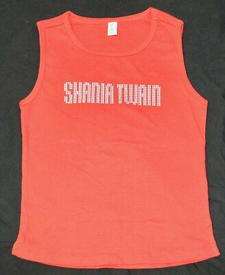 Shania Twain Red Nail Head Sleeveless Tee shirt Size Large NEW + now w/Free Gift