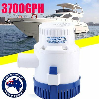 12V 3700GPH Non-Automatic Bilge Water Pump Submersible for Fishing Boating Car G
