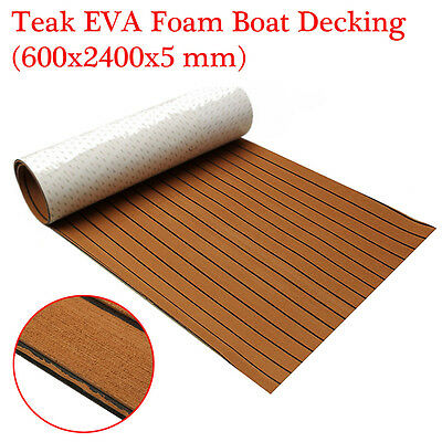 240X60CM Synthetic Teak Flooring EVA Foam Boat Yacht Marine Decking Sheet 5mm