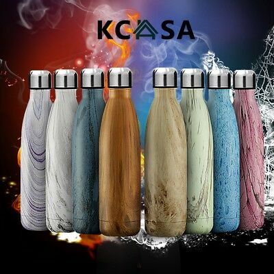 KCASA Stainless Steel Vacuum Insulated Water Bottle Double Wall Thermos Hot/Cold