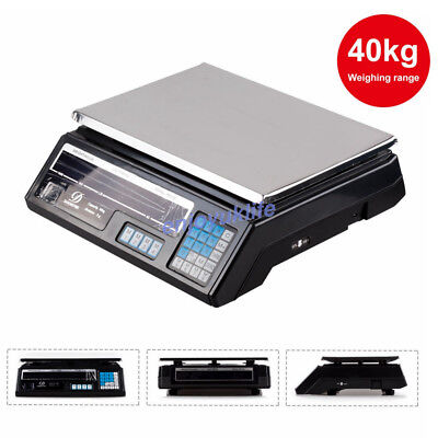 40kg/88lb Electronic Digital Scales Weighing Balance Retail Shop Price Scale New