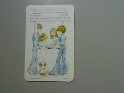 """1 Single Swap/Playing Card -""""Sarah Kay"""" Children at Well (Blank Back)"""