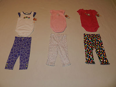 Carter's Infant Girl's 2 Piece Outfit's, Size 12 Months NWT!!!!