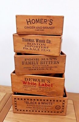 Wooden vintage antique style storage crate box (multiple sizes and options)