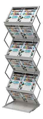Deflecto A3 Crystal Folding Literature Leaflet Brochure Exhibition Display Stand