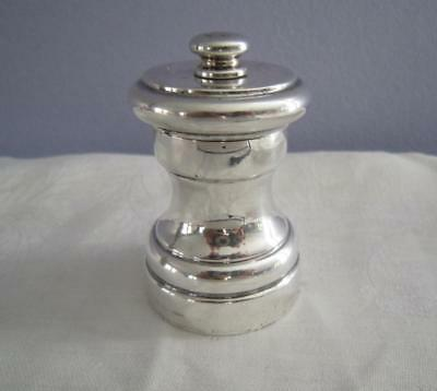 "Revere Sterling Pepper Grinder Mill 2.5"" Made In Italy"