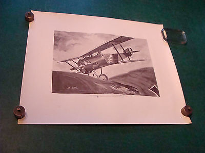 Original Phillips Petroleum co poster: Willey Coppens in his HANRIOT HD-1
