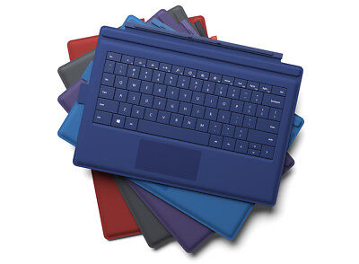 Surface PRO Type Cover 3 Keyboard Genuine Microsoft Original CYAN BLUE PURPLE