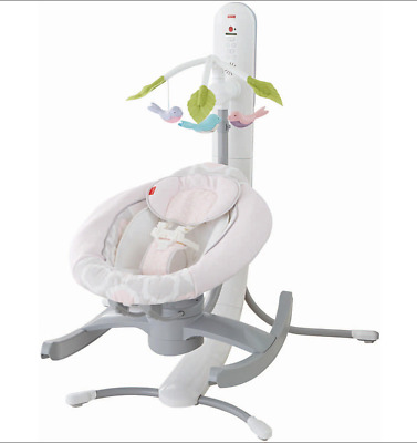 Fisher Price 4 in 1 Smart Connect Singing Cradle'n Swing Apple Android Bluetooth