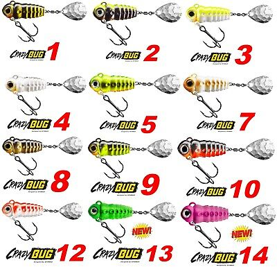 SpinMad Spinning Tail Spinners CRAZY BUG 6g 4g Baits Spinnerbaits Lure Fishing
