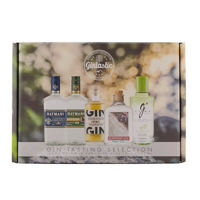 Gin Tasting Selection Probierset 5 Flaschen a 40ml